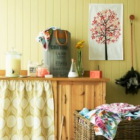 Yellow country utility room