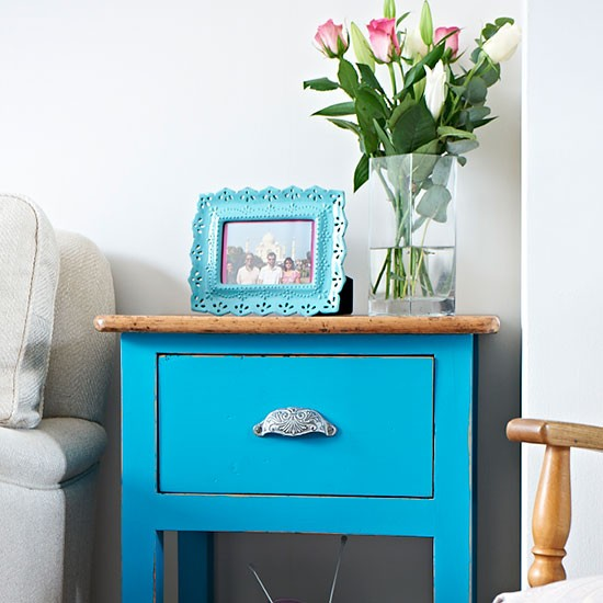Upcycled And Painted Living Room Furniture
