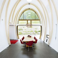 Step inside a kitchen boasting extraordinary architecture