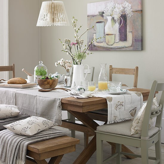 country dining room with cool calm linens country dining room design