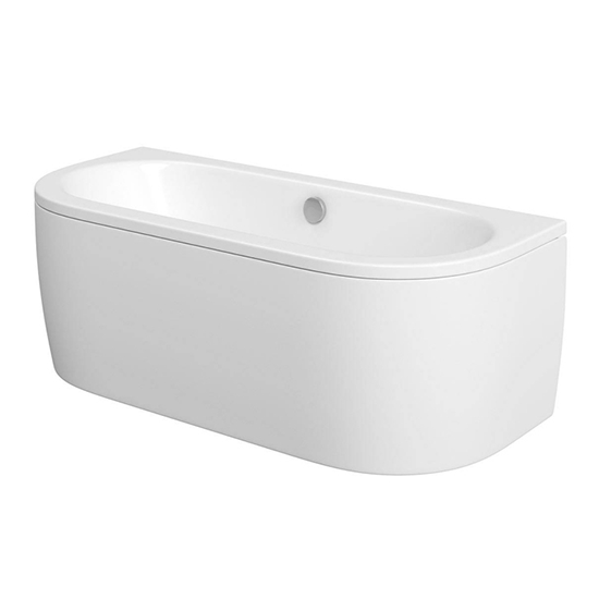 Cayman D Shaped Back To Wall Bath From Victoria Plumb Budget Baths Shopping