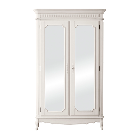 provencale dove grey wardrobe with mirrored doors from. Black Bedroom Furniture Sets. Home Design Ideas