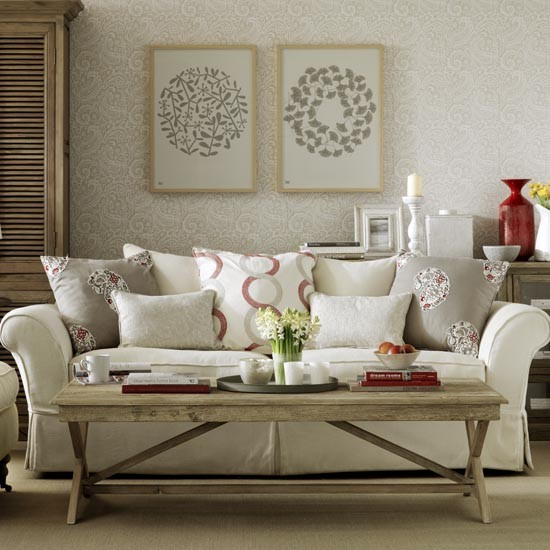 Relaxed country living room interior design ideas for Country living room ideas uk