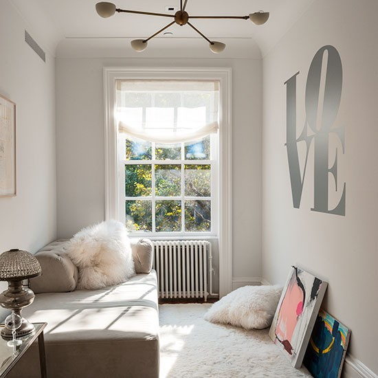 Bedroom Bins Uk White Bedroom Decorating Ideas Pictures White Venetian Blinds Bedroom Best Bedroom Ceiling Design: White Bedroom With 'love' Wall Stencil