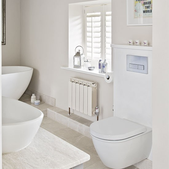 White Painted Bathroom Decorating