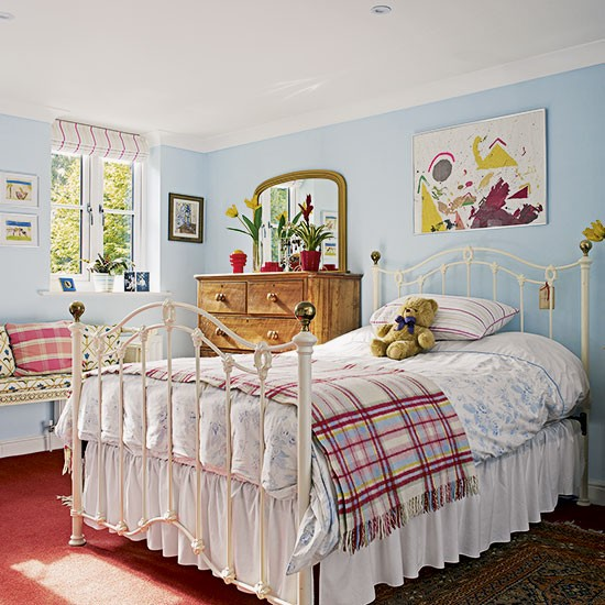 master bedroom take a tour around a bright and colourful period home