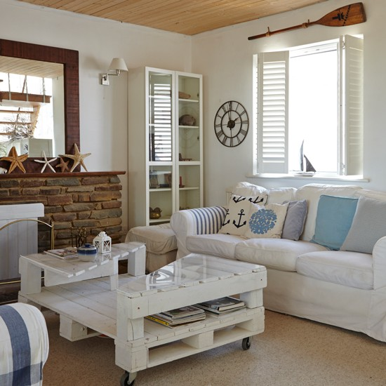 Coastal interiors for living rooms for Living room decor ideas uk