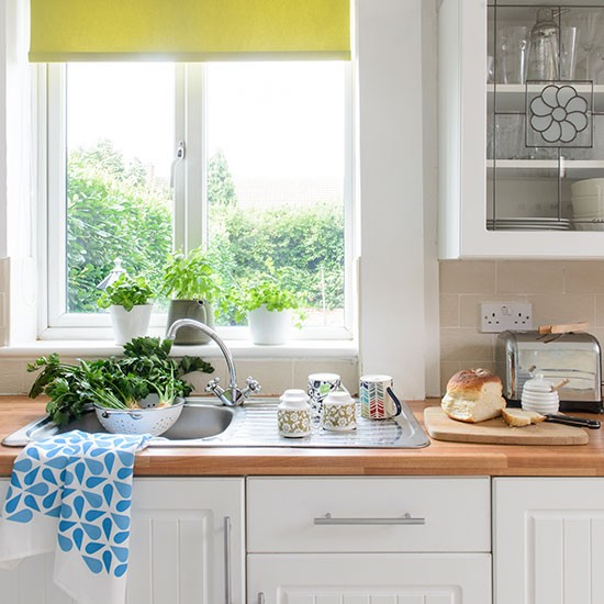 Eclectic White Kitchen: White Kitchen With Eclectic Accessories