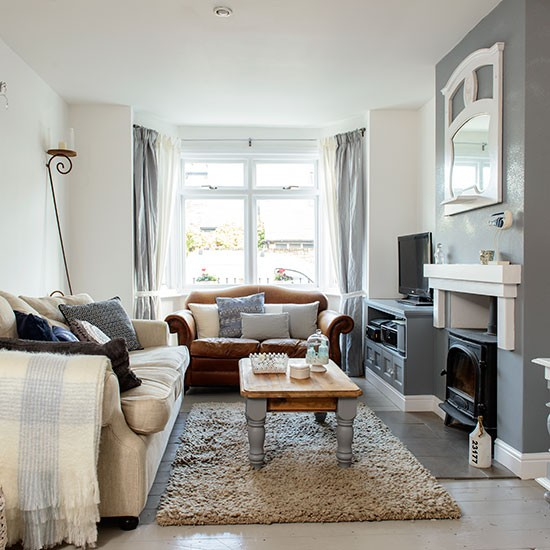Cosy grey and white living room | Decorating | housetohome ...