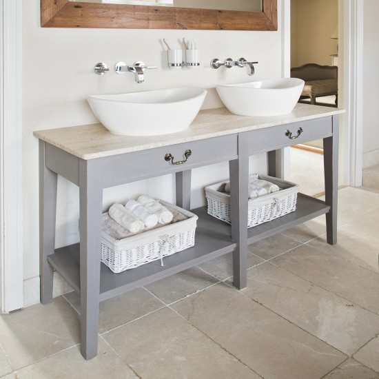 converted twin washstand bathroom storage ideas