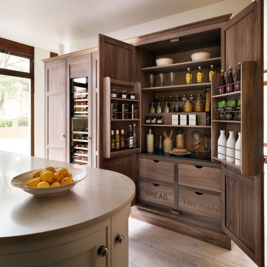 Kitchen Shelves Ideas: Larder Cupboard With Stepped Shelving