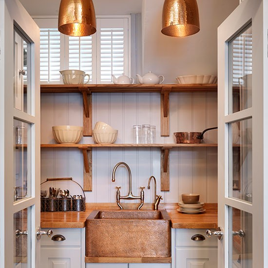 Kitchen Shelves Ideas: Practical Utility Area With A Touch Of Glamour