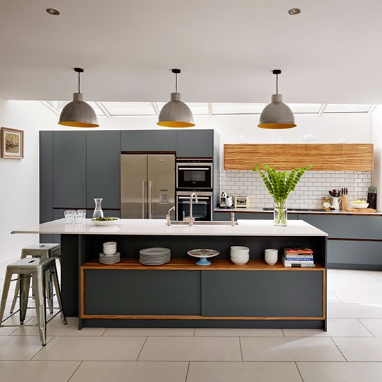 Dark Grey Painted Kitchen Design Ideas