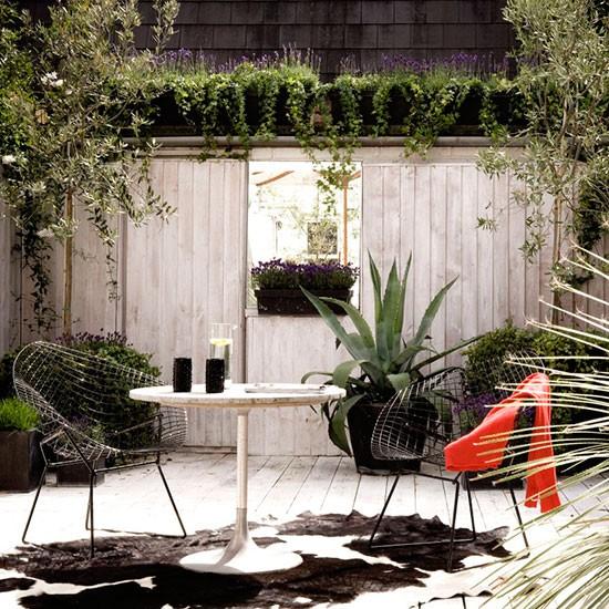 Modern Sunken Garden Terrace Small Garden Design Ideas