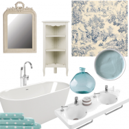 Hint-of-blue bathroom