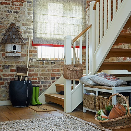 New Home Interior Design Country Hallway: Rustic Country Hallway