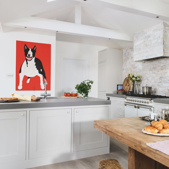 Contemporary Pet Artwork In A Kitchen