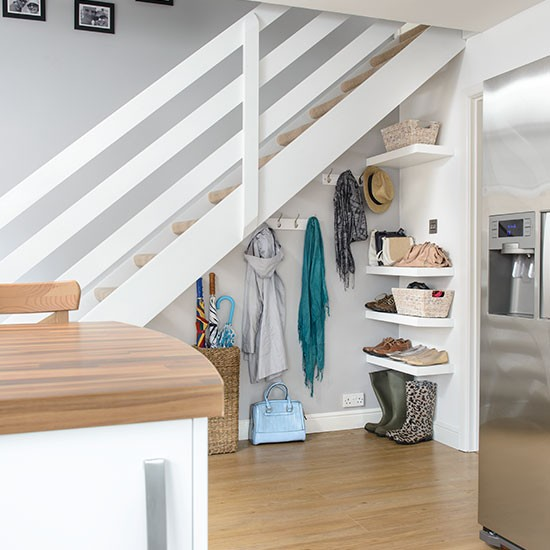 Under Stairs Kitchen Storage Ideas: Hallway With Understairs Storage