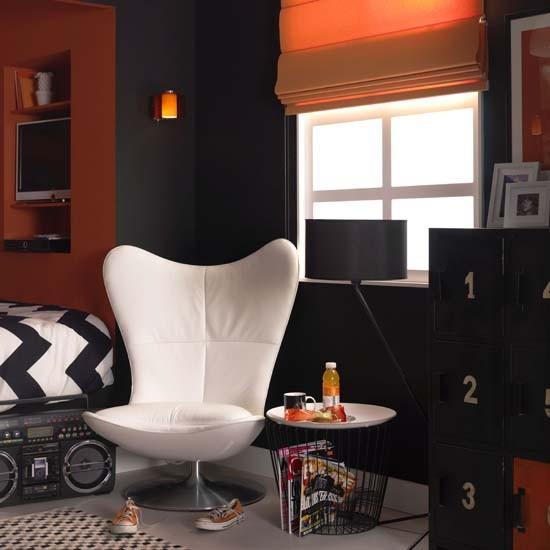 Black And Orange Teenage Boy 39 S Room Teenage Boy 39 S Room Design Ideas