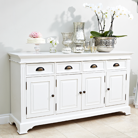 Traditional White Dining Room Sideboard Dining Room