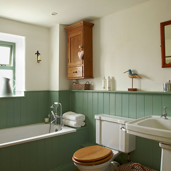 Traditional Bathroom With Jade Green Panels Traditional Bathroom Ideas 10 Of The Best