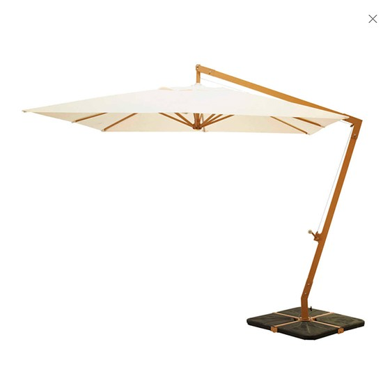 taupe cantilever parasol from maisons du monde refined rustic garden essentials shopping. Black Bedroom Furniture Sets. Home Design Ideas