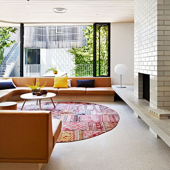 Open Plan Living Room Ideas To Inspire You: Mid-century Style Living Room