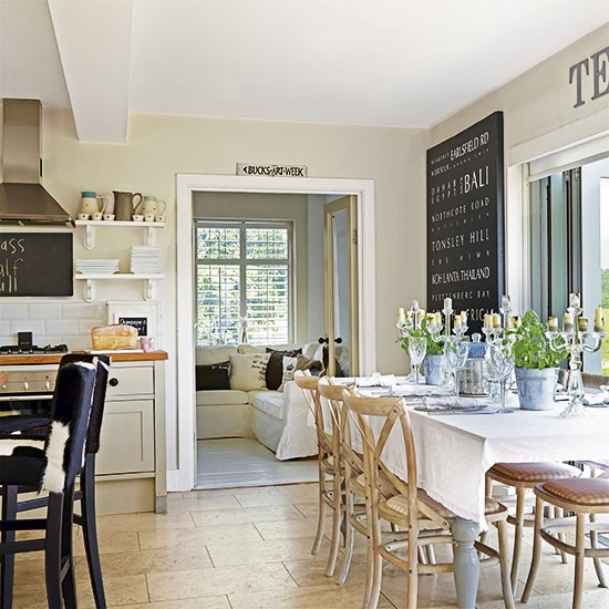 Neutral Country Kitchen Ideas Housetohomecouk