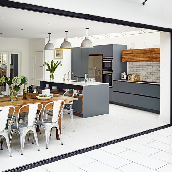 modern grey kitchen kitchen ideas On modern kitchen ideas uk