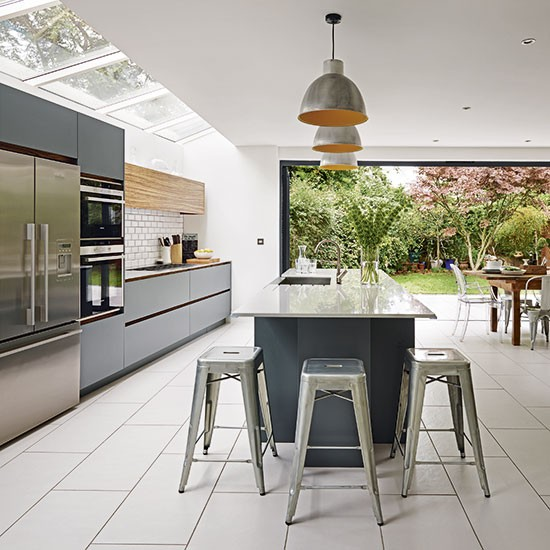 Grey and white kitchen kitchen ideas for Modern white and gray kitchen