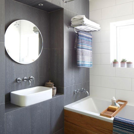 Urban bathroom with space saving tricks urban hotel for Space saving bathroom designs