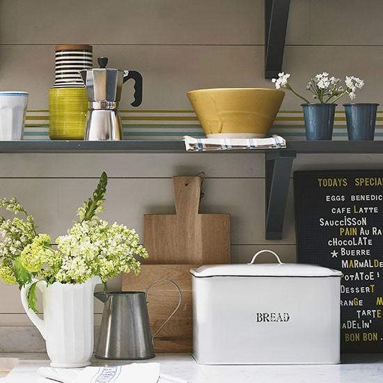 Kitchen Bin Storage Ideas: Country Kitchen Shelving