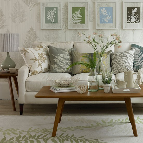 leaf themed living room small country living room ideas
