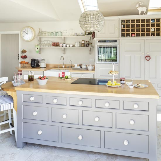 Makeover country style kitchen for Grey country kitchen