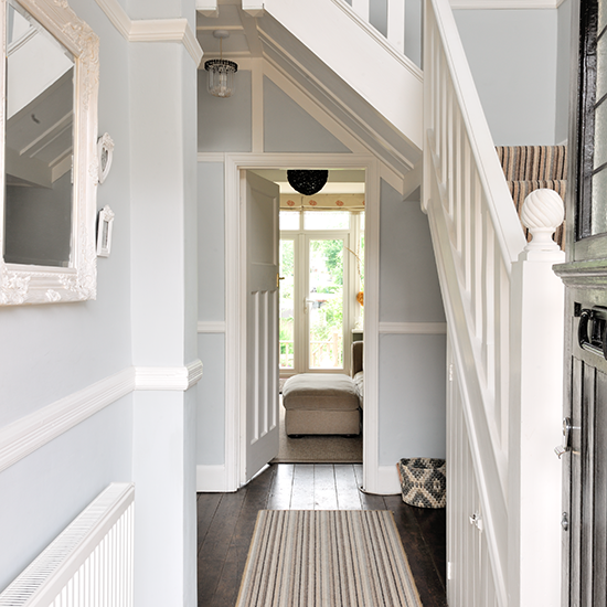 Striped Stair Carpet And Runner Traditional Hallway