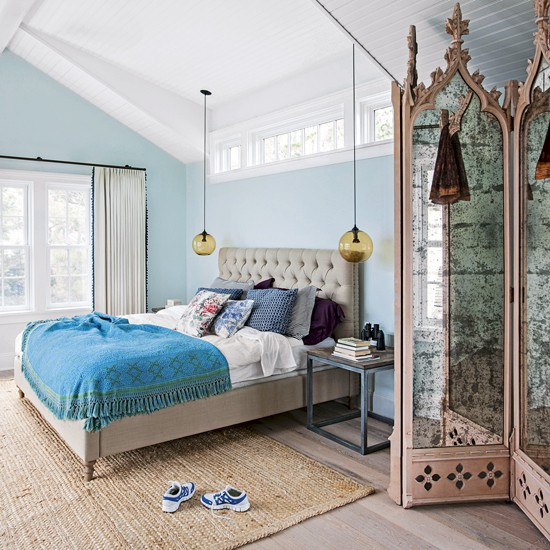 Sky Blue Bedroom With Distressed Furniture Decorating With Autumn  Sky Blue  Bedroom in Make This. Sky Blue Bedroom