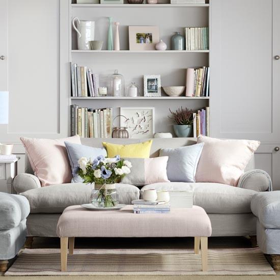 Pale Grey Family Living Room Family Living Room Design Ideas