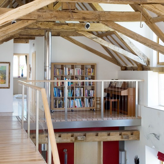 Open Plan Study Area In Barn Conversion Country