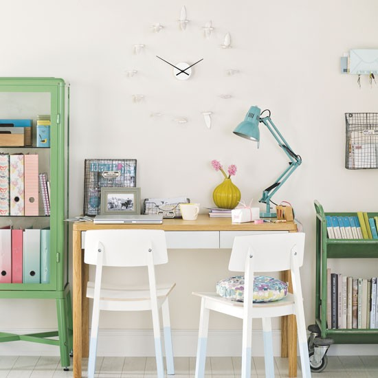 Bright Home Office With Versatile Furniture Home Office