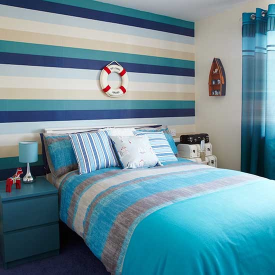 Boys 39 bedroom ideas - Blue bedroom wallpaper ideas ...