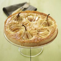 Pear, almond and cardamom tart
