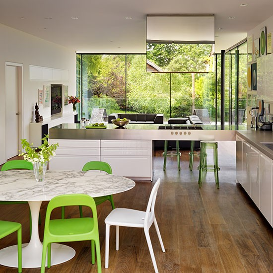 Modern Kitchen With Colourful Chairs