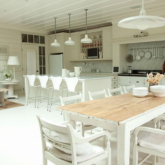 Rustic Whitewashed Kitchen