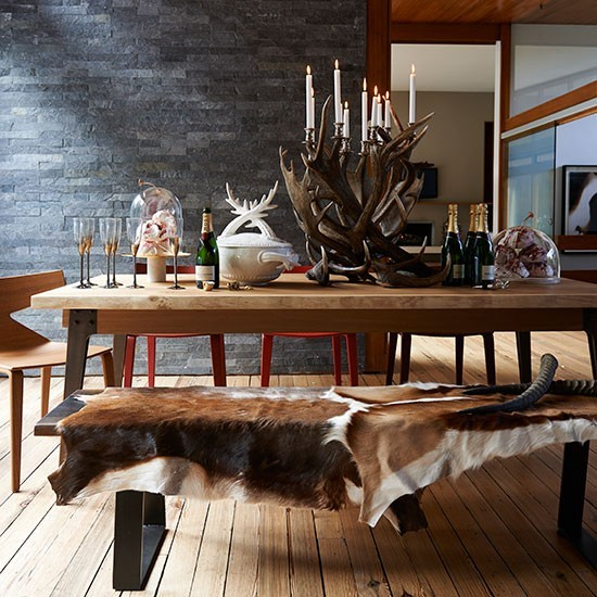 Modern chalet inspired dining room Decorating with