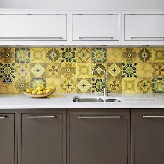 Retro Kitchen With Geometric Splashback