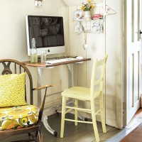 Yellow country home office