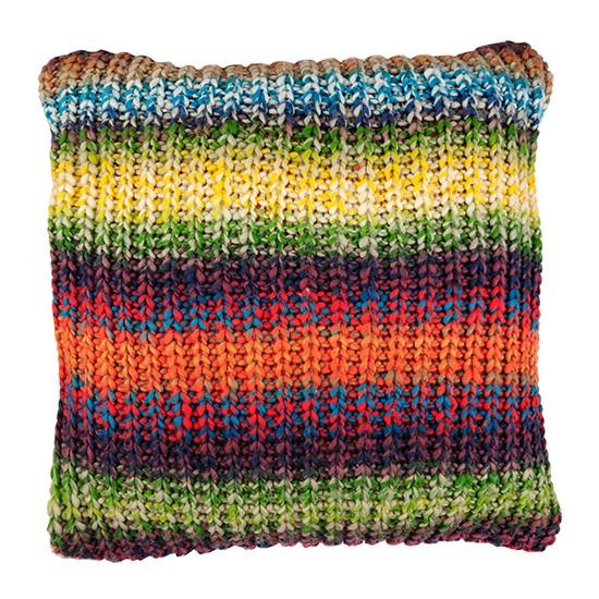 Rainbow Cushion Knitting Pattern : Rainbow knit cushion from BHS Budget cushions housetohome.co.uk