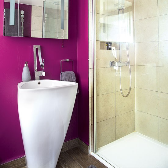 Bright pink bathroom bathroom decorating style at home