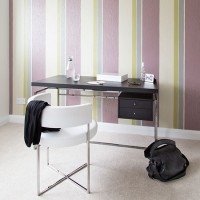 Purple striped home office