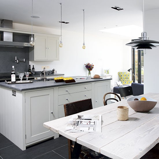 White And Grey Industrial Kitchen